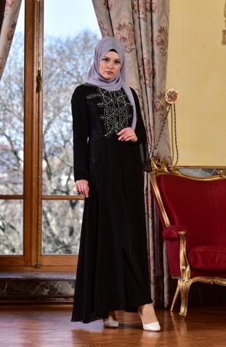 Black İslamitische Avondjurk 1613944-01