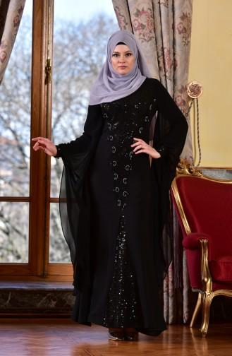 Black İslamitische Avondjurk 1713187-02