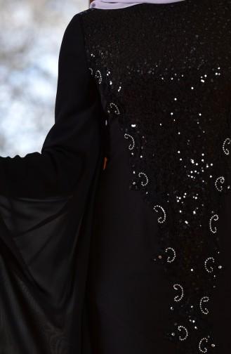 Robe de Soirée a Paillette 1713187-02 Noir 1713187-02