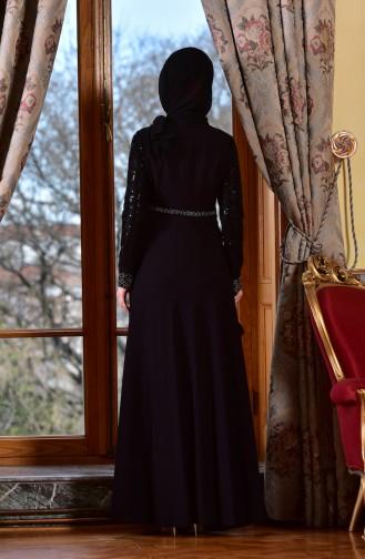 Abendkleid mit Pailetten 1713191-02 Schwarz 1713191-02