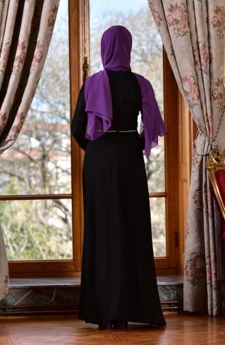 Black Islamic Clothing Evening Dress 1713198-02