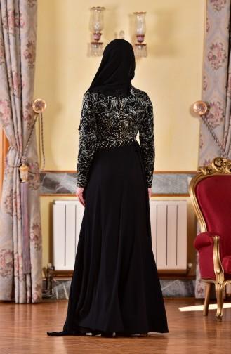 Abendkleid mit Perlen 1713218-01 Schwarz 1713218-01