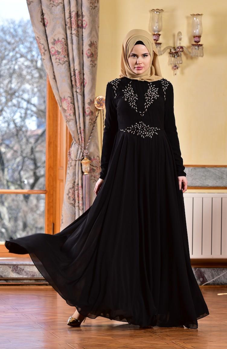 2bceaf9bea259 فستان بتصميم مميز مع تفاصيل من الدانتيل 8000-04