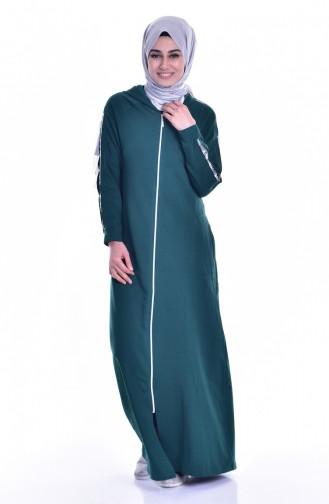 Sport Kleid mit Kapuzen 8115-04 Smaragdgrün 8115-04