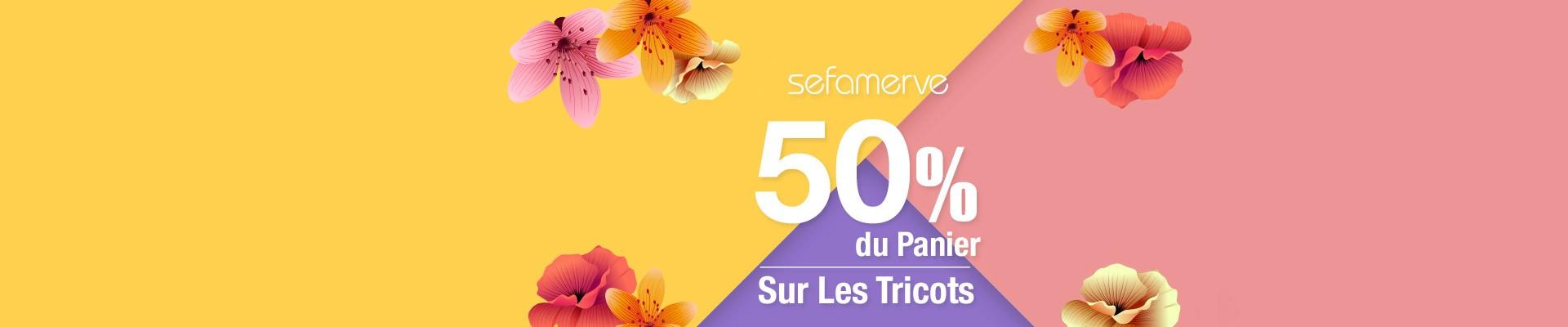 50% du Panier Sur Les Tricots