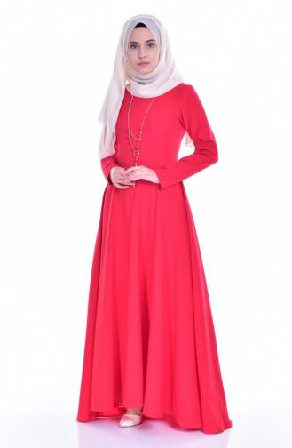 Asymetrisches Kleid 4055A-02 Rot 4055A-02