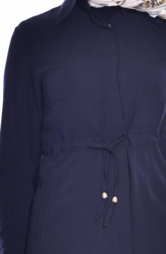 Tunique a Ceinture 0050-02 Bleu Marine 0050-02