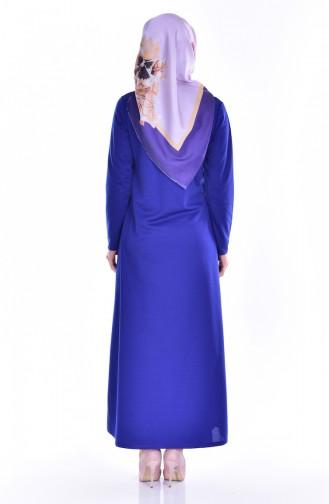 Saxon blue Abaya 8001-06