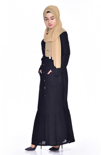 Black Abaya 1496-01