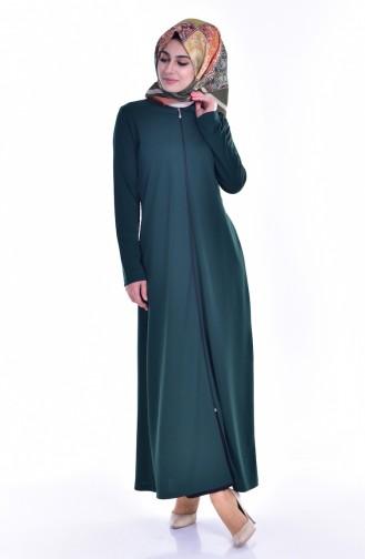 Fermuarlı Ferace 99140-10 Yeşil