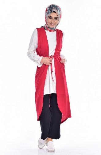 Gilet Perlés 218161-01 Rouge 218161-01