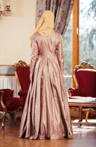 Copper Islamic Clothing Evening Dress 701241-01