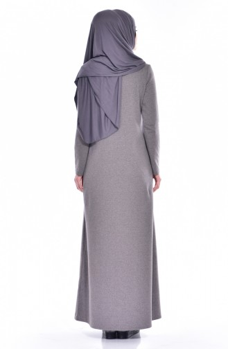 Takım Görünümlü Elbise 2895-12 Antrasit Gül Kurusu