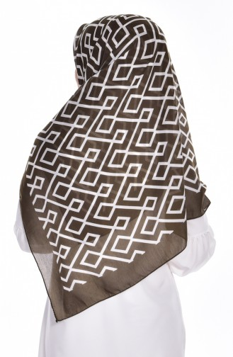 Geometric Patterned Scarf 60057-08 Coffee 08
