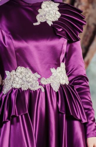 Abendkleid mit Strassstein 701210-03 Lila 701210-03