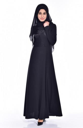 Black İslamitische Jurk 0620-01
