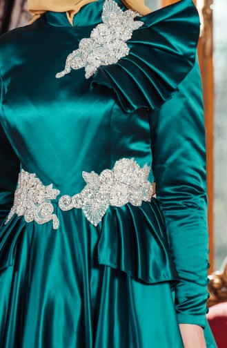 Abendkleid mit Strassstein 701210-02 Smaragdgrün 701210-02