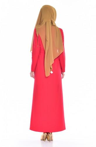 Robe Plissée 4405-05 Rouge 4405-05
