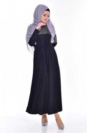 فستان بتصميممحاك بخيوط لامعة 0006A-01