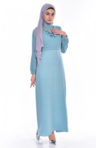 فستان بتصميم حزام للخصر مُزين بقلادة  8138-08