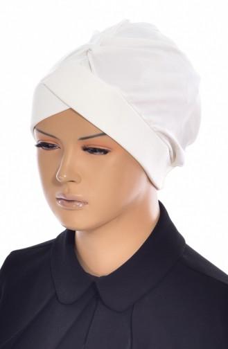 Bonnet de Bain Croisé 0018-02 Ecru 0018-02
