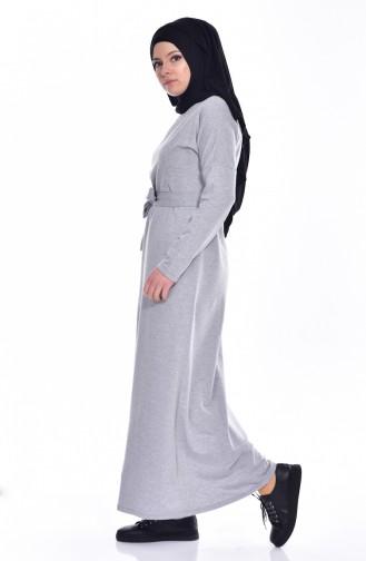 Robe a Ceinture 1003-04 Gris 1003-04