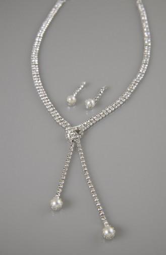 طقم مجوهرات  مزين بتفاصيل لامعة من الكرستال  04-0403-48-10-01