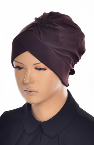 Bonnet de Bain Croisé 0018-10 Brun 0018-10