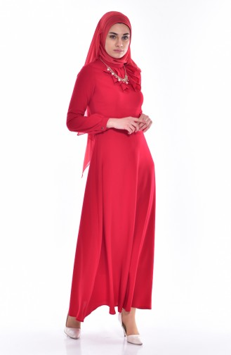 فستان بتصميم حزام للخصر مُزين بقلادة  8138-01