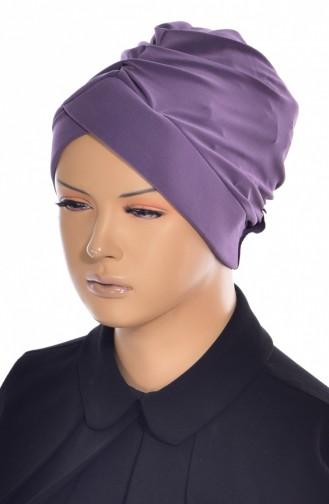Bonnet de Bain Croisé 0018-14 Lila Foncé 0018-14