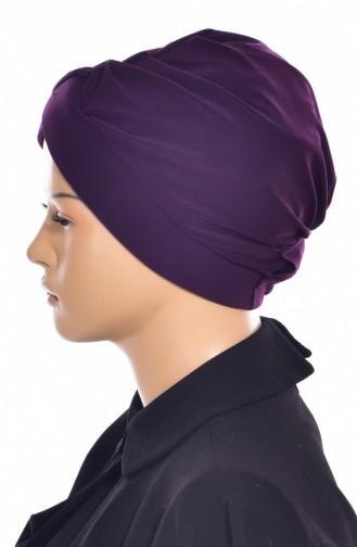 Bonnet de Bain Croisé 0018-19 Plum Foncé 0018-19
