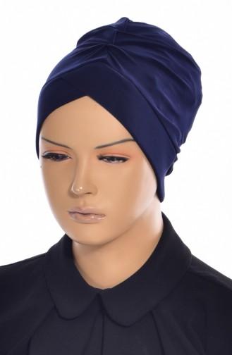 Bonnet de Bain Croisé 0018-04 Bleu Marine 0018-04