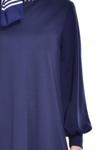 Hijab Kleid 3303-09 Dunkelblau 3303-09