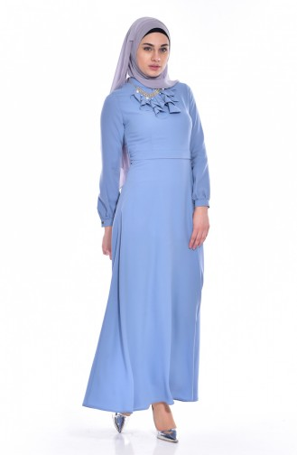 فستان بتصميم حزام للخصر مُزين بقلادة  8138-06
