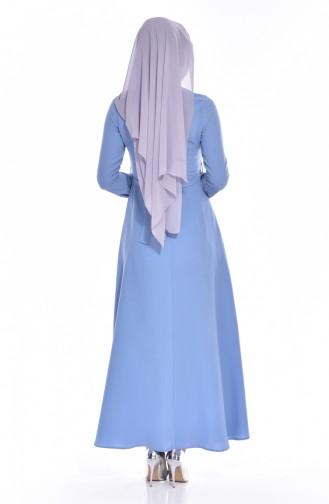 Blue İslamitische Jurk 8138-06