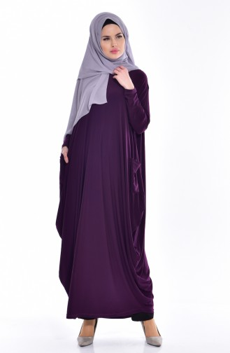 Pocketed Abaya 1646-03 Purple 1646-03