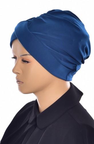 Bonnet de Bain Croisé 0018-16 Bleu Pétrole 0018-16