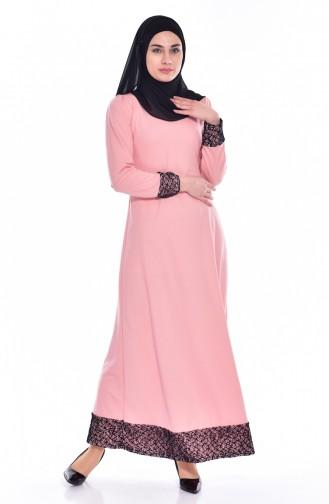 Powder İslamitische Jurk 3306-04