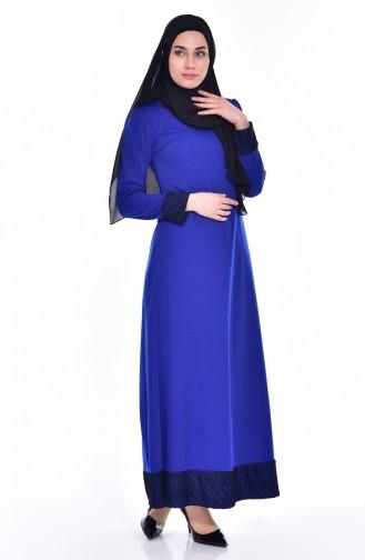 Saxon blue İslamitische Jurk 3306-03