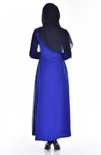 فستان سادة بتصميم مُخرم  3307-02