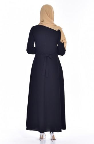 Kleid mit Halskette 8138-07 Schwarz 8138-07