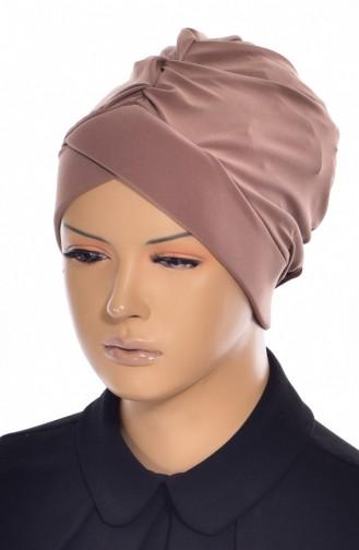 Bonnet de Bain Croisé 0018-08 Café au Lait 0018-08