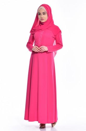 Kleid mit Bogen 0037-04 Fuchsia 0037-04