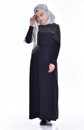 Black İslamitische Jurk 0005A-01