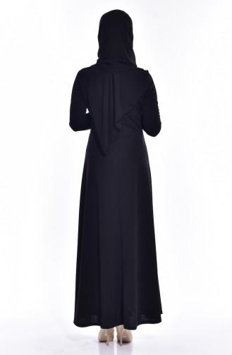 Black İslamitische Jurk 0037-06