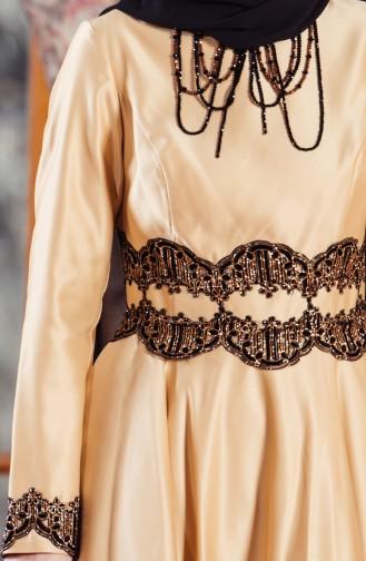 Robe de Soirée avec Pierre 701224-03 Gold 701224-03
