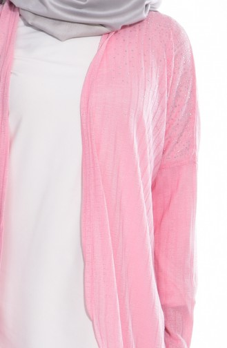 Bedruckte Strickjacke 50184-02 Pink 50184-02