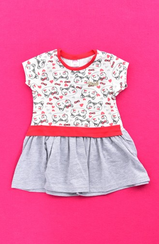 Red Baby and Kids Dress 9475-01