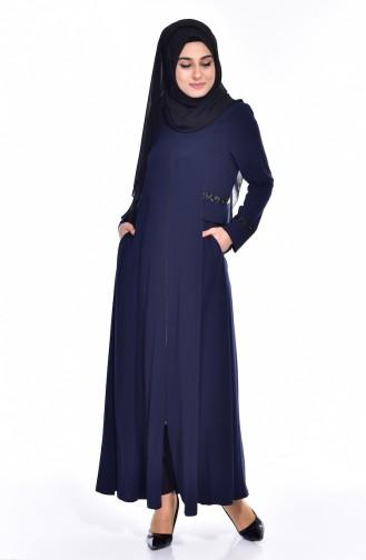 Navy Blue Abaya 2515-01