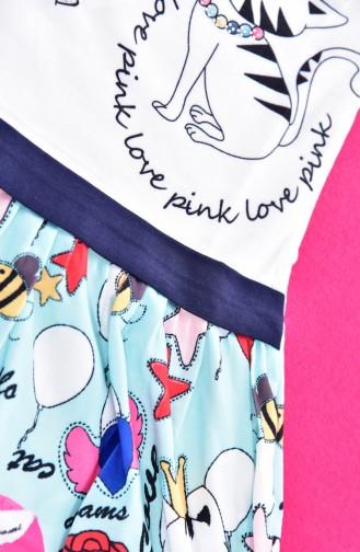 فستان للأطفال بتصميم مطبع  9458-04